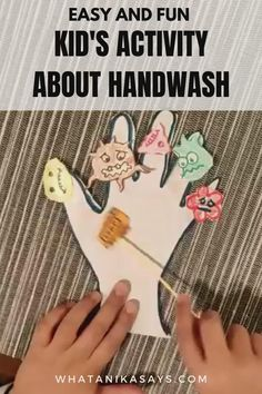 Teach your kids about handwashing with this easy activity. It will help them understand the importance of handwashing and how to do it correctly. Preschool Learning Activities, Fun Activities For Kids, Teaching Kids, Kindergarten Classroom Decor, Homeschool Kindergarten, Germ Crafts, Hand Crafts For Kids, Science Experiments Kids, Lessons For Kids