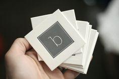 Custom Letterpress Printed Business Cards. $160.00, via Etsy.