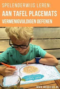 Tafels leer je het beste door te oefenen en te herhalen. Dan is spelenderwijs tafels leren wel het leukste. Met deze placemats van BOEL oefen je voor, tijdens of na het eten.