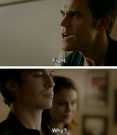 """""""Today Will Be Different"""" - Stefan and Damon Damon Salvatore Vampire Diaries, Ian Somerhalder Vampire Diaries, Stefan Salvatore, Vampire Diaries The Originals, Tvd Quotes, Movie Quotes, Kevin Williamson, Popular Book Series, Vampire Daries"""