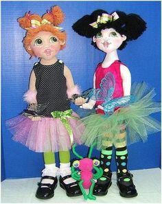Judi Ward Original Design - Bug! ~ Cloth Doll Making E-Pattern - Download Sewing Pattern