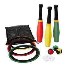 TRÄNING Set giocoleria IKEA Gli anelli e le clavette si possono usare anche come gioco di lancio.