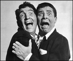 Dean Martin and Jerry Lewis by Philippe Halsman