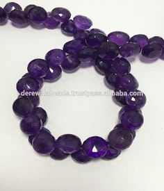 Natural African Amethyst Faceted Onion Semi Precious Stone Beads