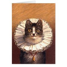 Lord Feline Greeting Card - cat cats kitten kitty pet love pussy