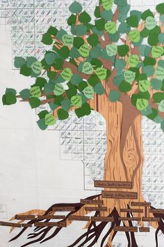A different take on the family tree...roots for generations leading to main couple that the reunion is for...leaves are their descendants...a branch for each child & spouse, plus kids, grandkids, etc.