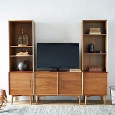 Mid-Century Media 5-Piece Set (206 cm) - Acorn