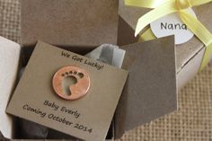 Pregnancy Announcement, Baby Lucky Charm... Secret Message, Gender Reveal, Lucky Penny on Etsy, $5.99