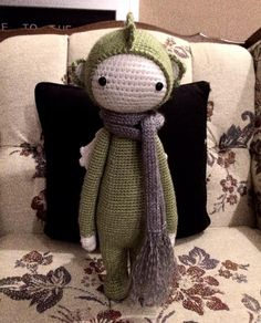 DIRK the dragon made by Becky L. / crochet pattern by lalylala