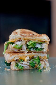 Broccoli cheese soup inspired grilled cheese