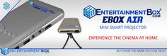 Mini projector android by Entertainment Box - https://www.entertainmentbox.com/mini-projector-android/