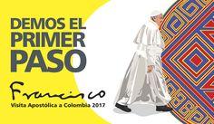 """Luego del anuncio de la visita del Papa Francisco a Colombia, se presentó la imagen oficial en la que se invita a los colombianos a que """"demos el primer paso"""" para alcanzar la reconciliación y la paz."""