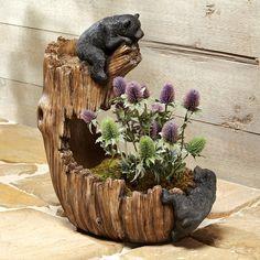 Black Bear Flower Pot/Planter