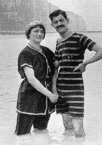 Baigneurs En Normandie 1900 Edwardian Era Swimwear Bathing