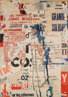 Jacques Mahe de la Villegle, Rue de Temple - manuscrite, 1968. Mildred Lane Kemper Art Museum, Washington University in St. Louis.