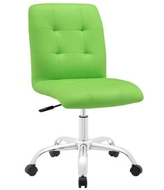 Prim Armless Mid Back Office Chair | Modway Furniture | Home Gallery Stores