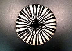 Large Coup Plate - Spokes Design - Nicholas Newcomb Pottery & Sculpture