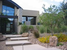 Landscape Modern Front Yard Design Ideas, Pictures, Remodel, and Decor - page 6