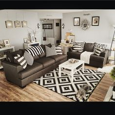 Gray Walls Brown Furniture Living Room Ideas