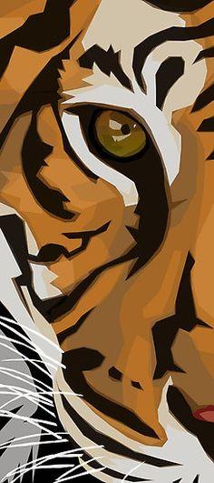 Eye Of The Tiger art painting Tiger Drawing, Tiger Painting, Painting & Drawing, Mask Drawing, Tiger Illustration, Animal Paintings, Animal Drawings, Art Drawings, Art Pop