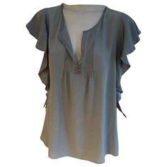 CALYPSO ST BARTH GREY SILK  TOP. #calypsostbarth #cloth Calypso St Barth, Silk Top, World Of Fashion, Luxury Branding, Clothes For Women, Grey, Shopping, Tops, Style
