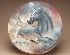 Native American Painted Drum  ~Spirit Horse~