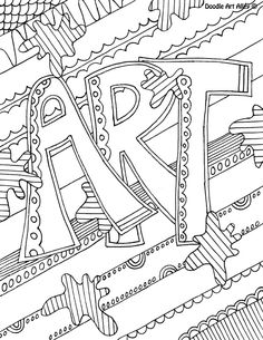 Artistic Subject Coloring Pages Great for notebooking covers!