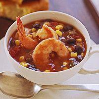 Quick Southwest Shrimp and Corn Chowder