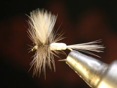 How to tie a White Foam Body Mayfly ~ Dry Fly
