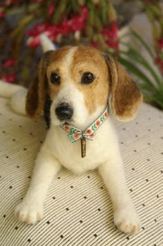 needle felted beagle by mido felt