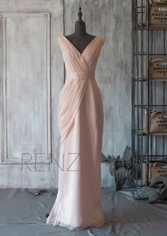 I would love to wear this dress as my wedding dress!  2015 New Chiffon Bridesmaid dress Wedding dress Party by RenzRags