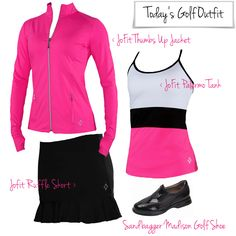 Today's #golf outfit. Loving with the Raspberry Thumbs-up Jacket from #JoFit      http://www.golf4her.com/Palermo-Collection-s/3123.htm