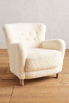 Wool Hartwell Chair #anthropologie