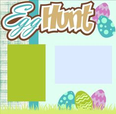 Scrapbook Page Kit or Premade Layout 12X12 2-Page Easter-Egg Hunt Boy by MemoriesByDezyn on Etsy