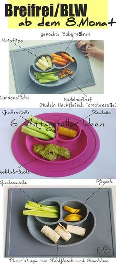 BLW Mittagessen Ideen, Breifrei Rezept ab 8. Monat