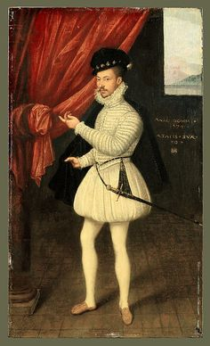 French Portrait of a Man in White   Date: 1574