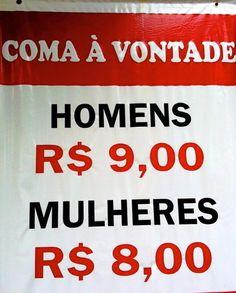 Este banner que bota um precinho camarada para comer homens e mulheres. | 20 avisos que vão deixar você um pouco confuso