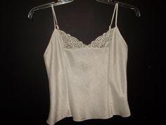 Victoria's Secret silky size small womens camisole lingerie cream color #VictoriasSecret