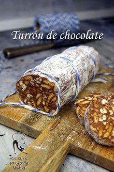 Kulinarne przygody Gatity - przepisy pełne smaku: Turrón de chocolate, czyli hiszpański blok czekola...