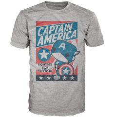 Marvel Captain America Poster Pop! Tees! T-Shirt