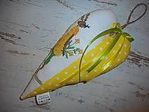 Veľká Noc - Vyšívané srdiečko so zajačicou_žlté+žlté šaty - 5093658_