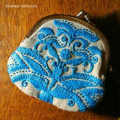 刺繍 Pouch BLUE