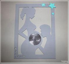 Eine tolle Erinnerung an die Schwangerschaft. ♥ Der Bilderrahmen ist ein wunderschönes Geschenk für (werdende) Mamis. ♥ **Materialien:** Sperrholz (6 mm dick) Acrylfarbe (unbedenklich und...