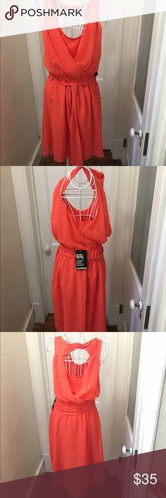 Express orange dress New w tags orange Express dress size medium Express Dresses Midi