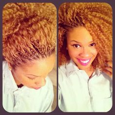 Great Protective Hairstyle! Crochets braids allow your natural hair to rest and grow. The brand that I am using is FreeTress and the curl pattern is called Bohemian Braid!! I'm in love with this hair style!!!! !!!  #naturalhair #protectivehairstyles! Protect your ends and allow your hair to GROW!!!