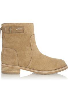 Tory Burch Selena suede ankle boots NET-A-PORTER.COM