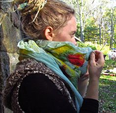 new nuno felted scarves