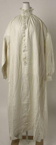 Nightgown  Date: ca. 1850 Culture: American or European Medium: linen  Accession Number: C.I.41.44.4  Metropolitan Museum of Art