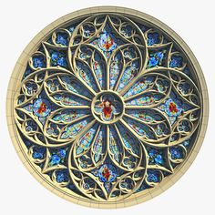 Round Gothic Rose Window Model available on Turbo Squid, the world's leading provider of digital models for visualization, films, television, and games. Gothic Cathedral, Cathedral Windows, Church Windows, Stained Glass Rose, Stained Glass Church, Stained Glass Windows, Architecture Antique, Architecture Tattoo, Saint Chapelle