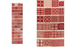 Saleman's Sample of Block-Printed Foulard Designs